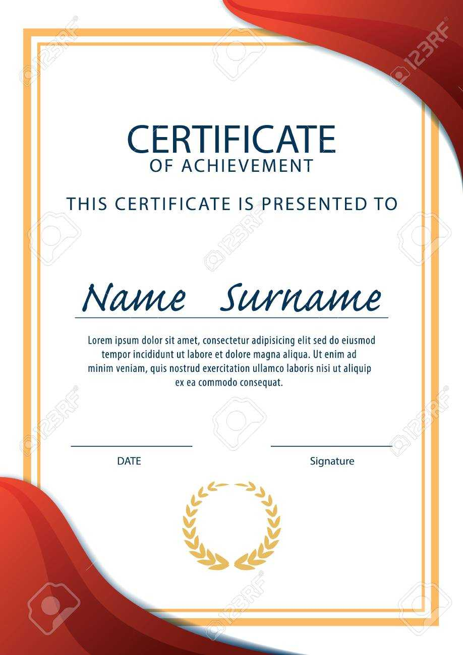 Certificate Template,diploma,a4 Size ,vector Within Certificate Template Size