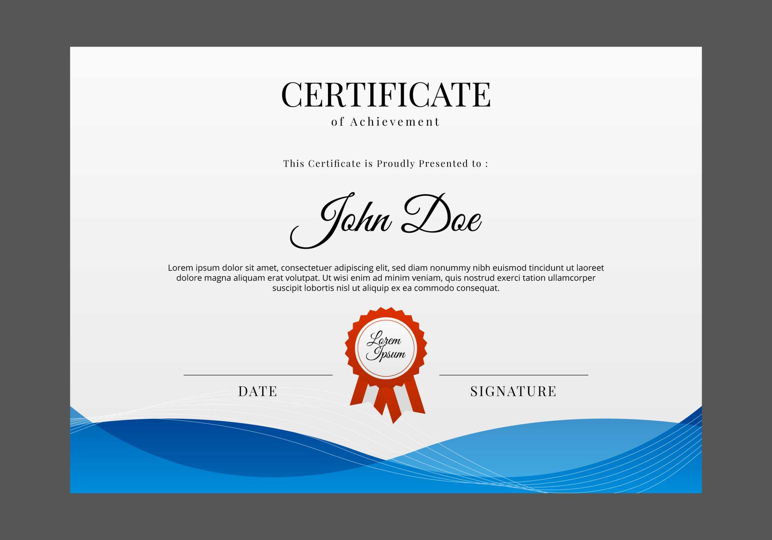 Certificate Templates, Free Certificate Designs For Design A Certificate Template