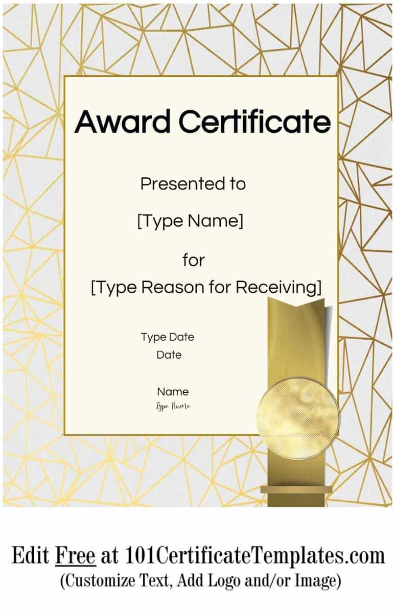 Certificate Templates With Regard To Free Printable Blank Award Certificate Templates