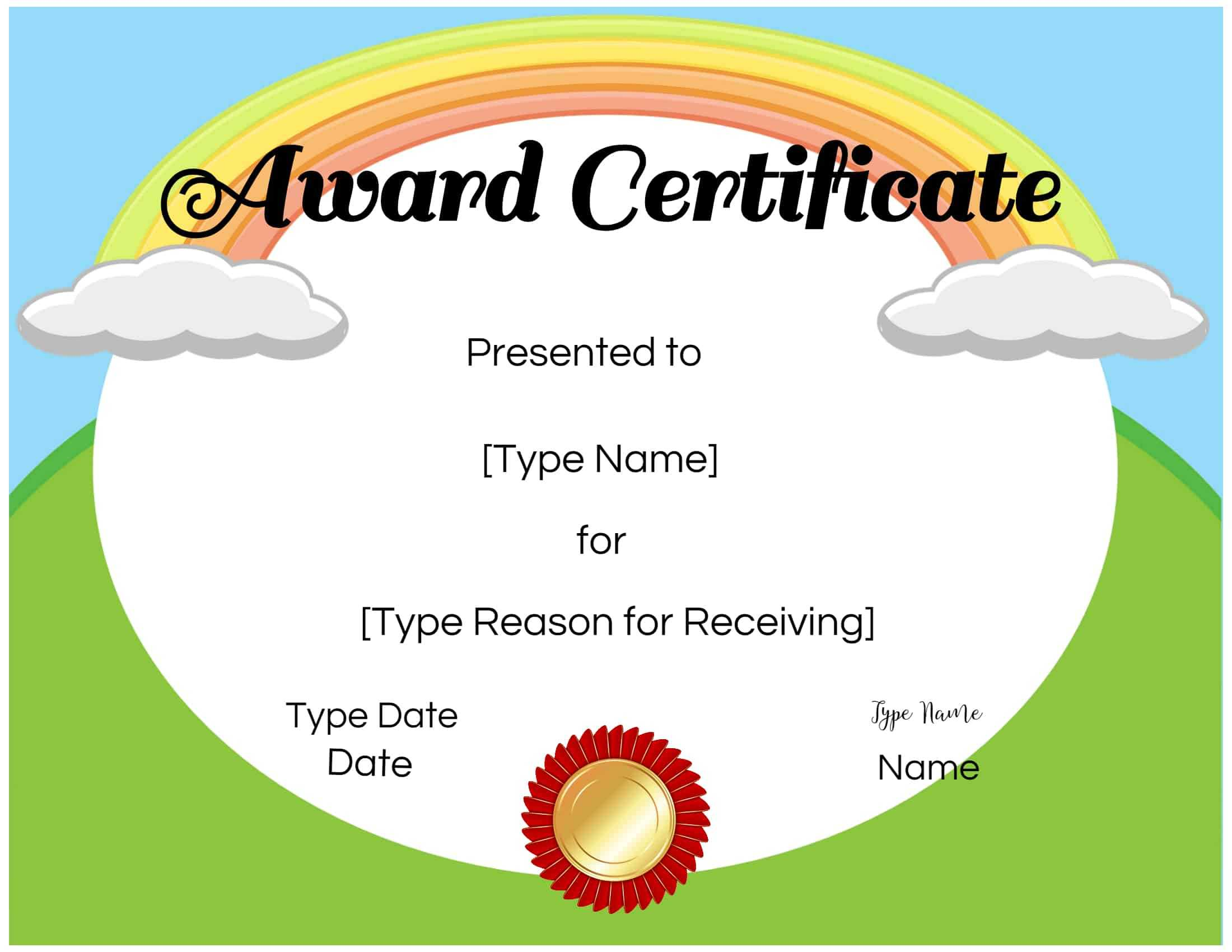 Certificates For Kids Inside Certificate Of Achievement Template For Kids