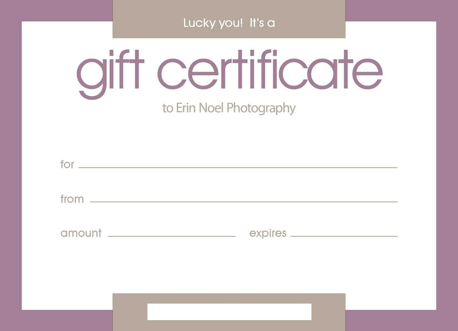 Certificates: Stylish Free Customizable Gift Certificate In Pages Certificate Templates