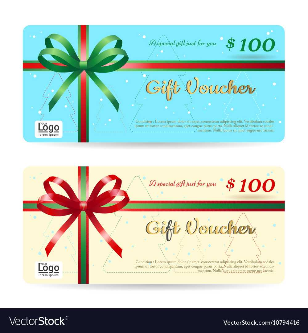 Christmas Gift Card Or Gift Voucher Template With Christmas Gift Certificate Template Free Download