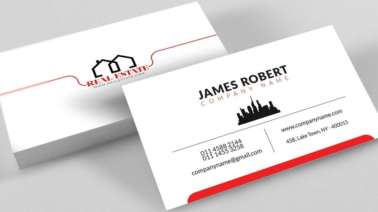 Clean Illustrator Business Card Design With Free Template Download For Visiting Card Illustrator Templates Download