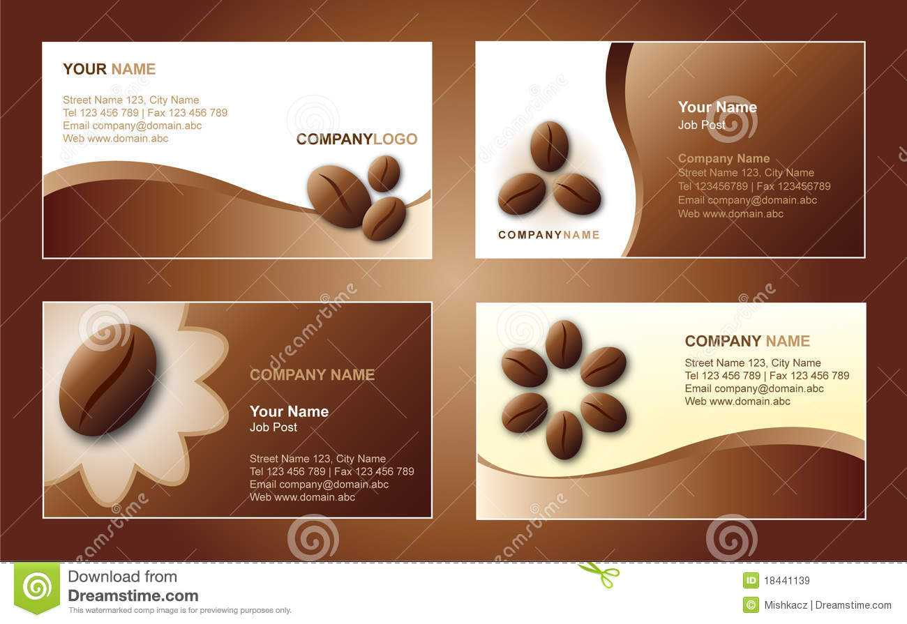 Coffee Business Card Template Stock Vector - Illustration Of Pertaining To Coffee Business Card Template Free