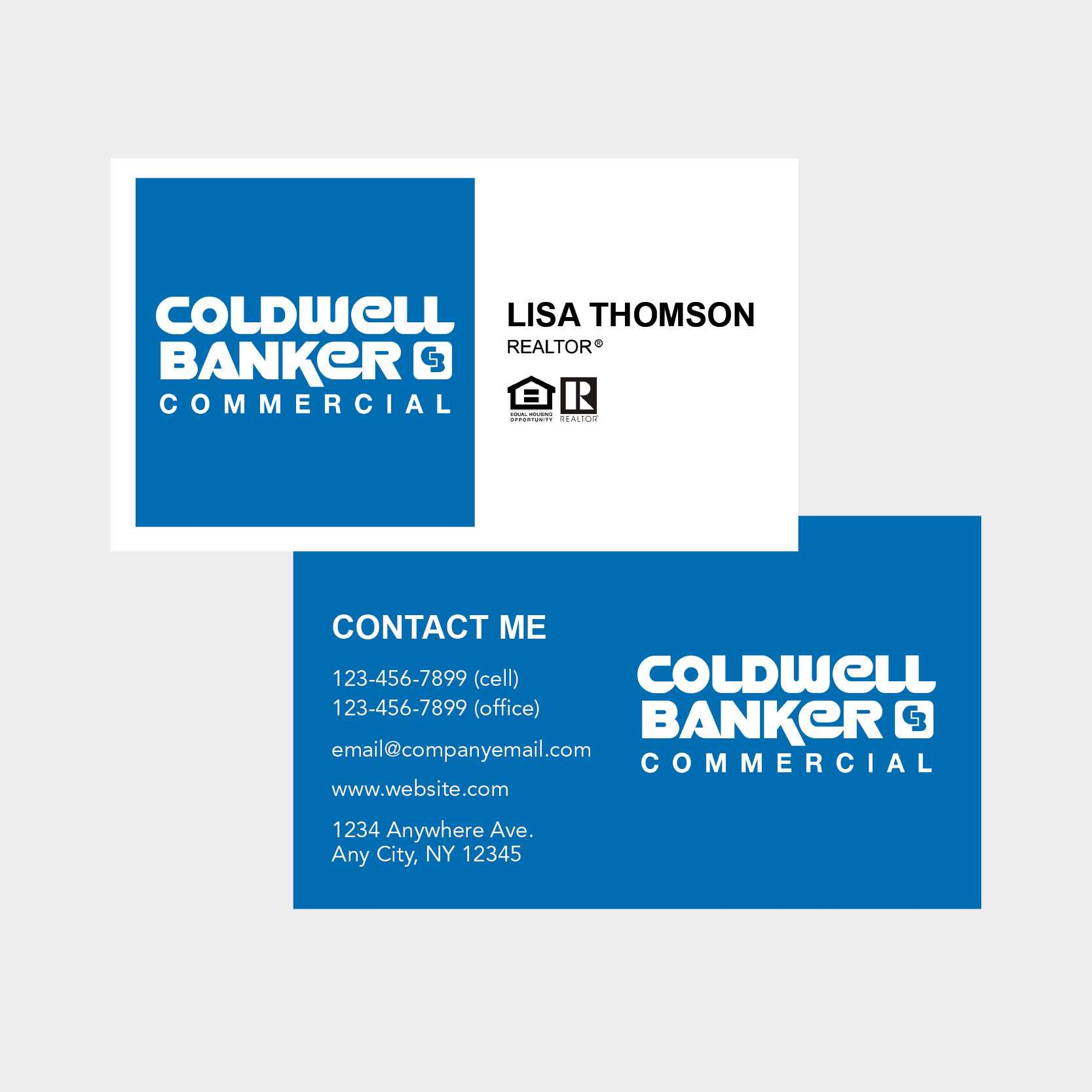 Coldwell Banker Business Card Intended For Coldwell Banker Business Card Template