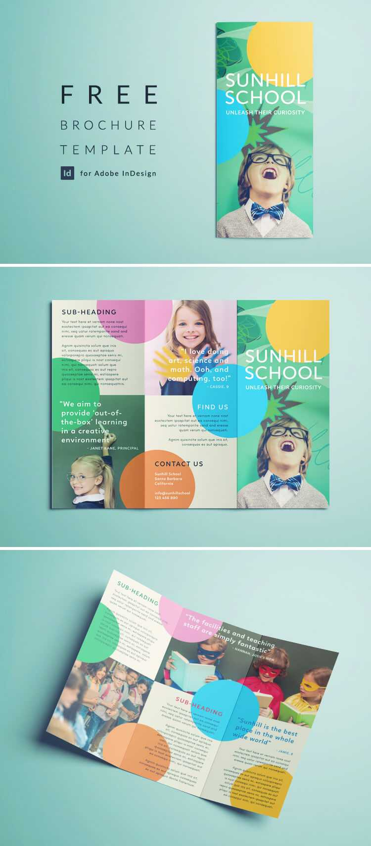 Colorful School Brochure – Tri Fold Template | Download Free Pertaining To Play School Brochure Templates