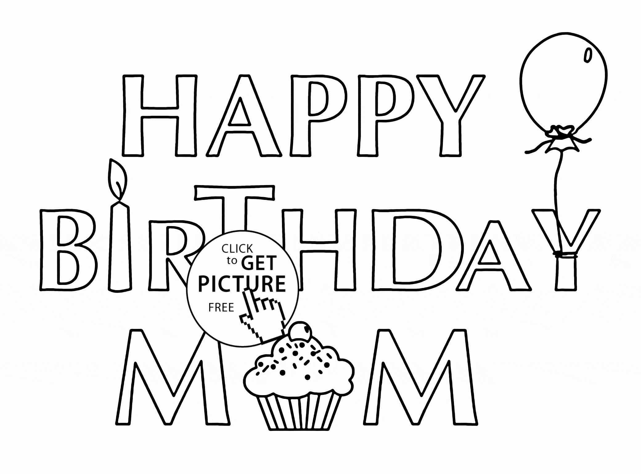 Coloring : Free Birthday Card For Grandma Printable Coloring Throughout Mom Birthday Card Template