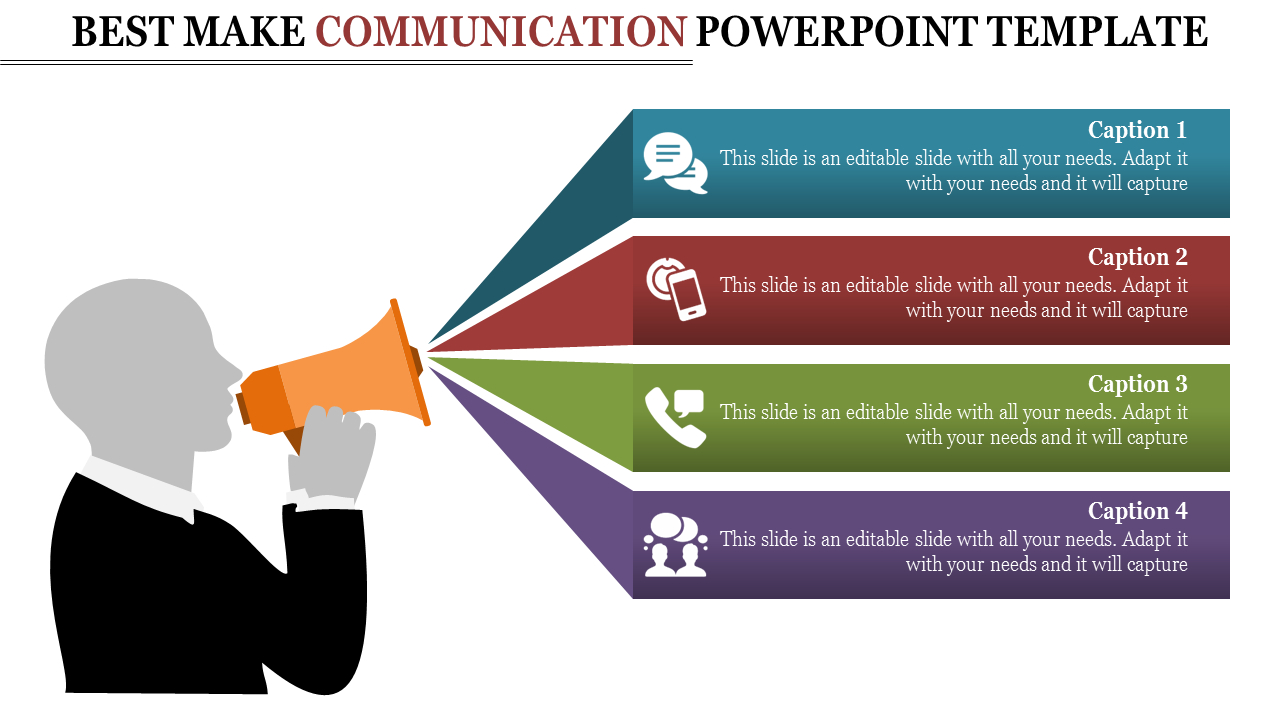 Communication Powerpoint Template Announcement Designs With Powerpoint Templates For Communication Presentation