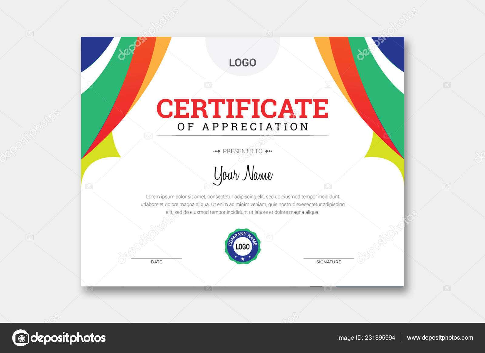 Comp Card Template Psd   Abstract Certificate Template For Comp Card Template Download