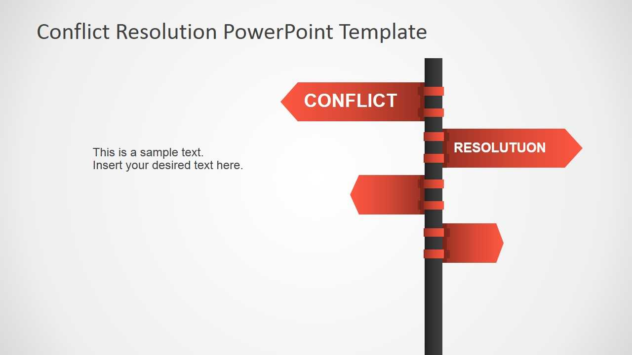 Conflict Resolution Powerpoint Template In Powerpoint Template Resolution