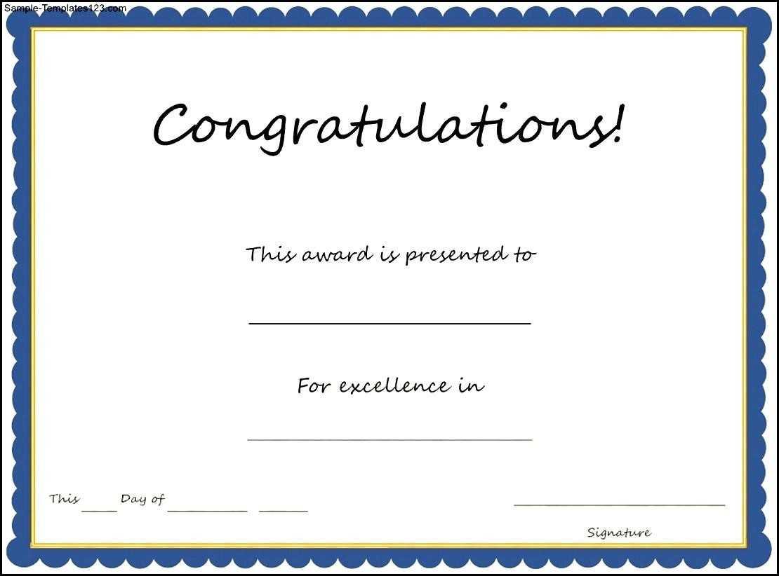 Congratulation Certificate Templates - Karan.ald2014 Regarding Congratulations Certificate Word Template