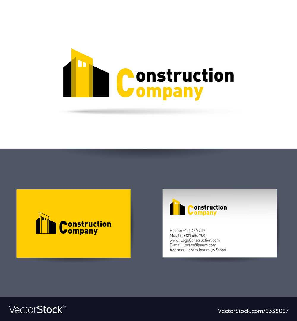 Construction Company Business Card Template In Construction Business Card Templates Download Free