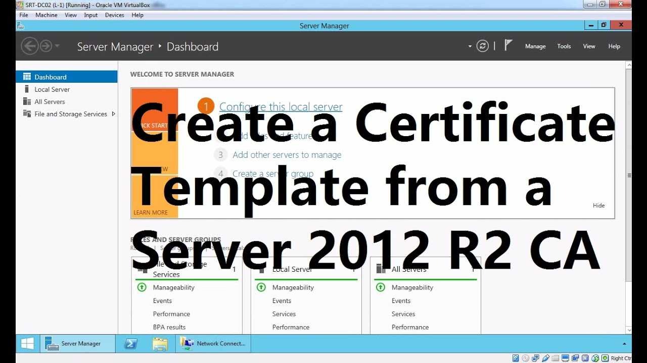 Create A Certificate Template From A Server 2012 R2 Certificate Authority Within Active Directory Certificate Templates