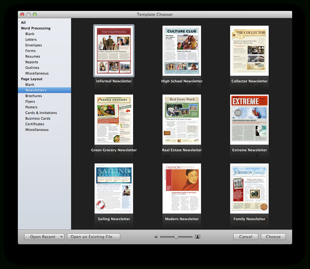 Create A Holiday Newsletter With Pages Or Iphoto   Macworld Regarding Business Card Template Pages Mac