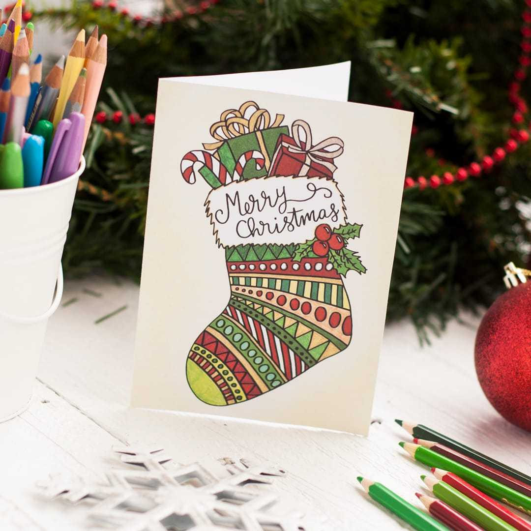 Create Your Own Christmas Cards Free Printable - Karan Inside Diy Christmas Card Templates