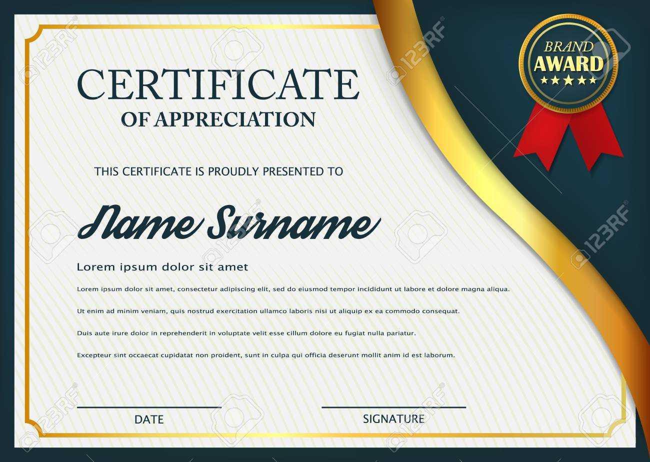 Creative Certificate Of Appreciation Award Template. Certificate.. Pertaining To Academic Award Certificate Template