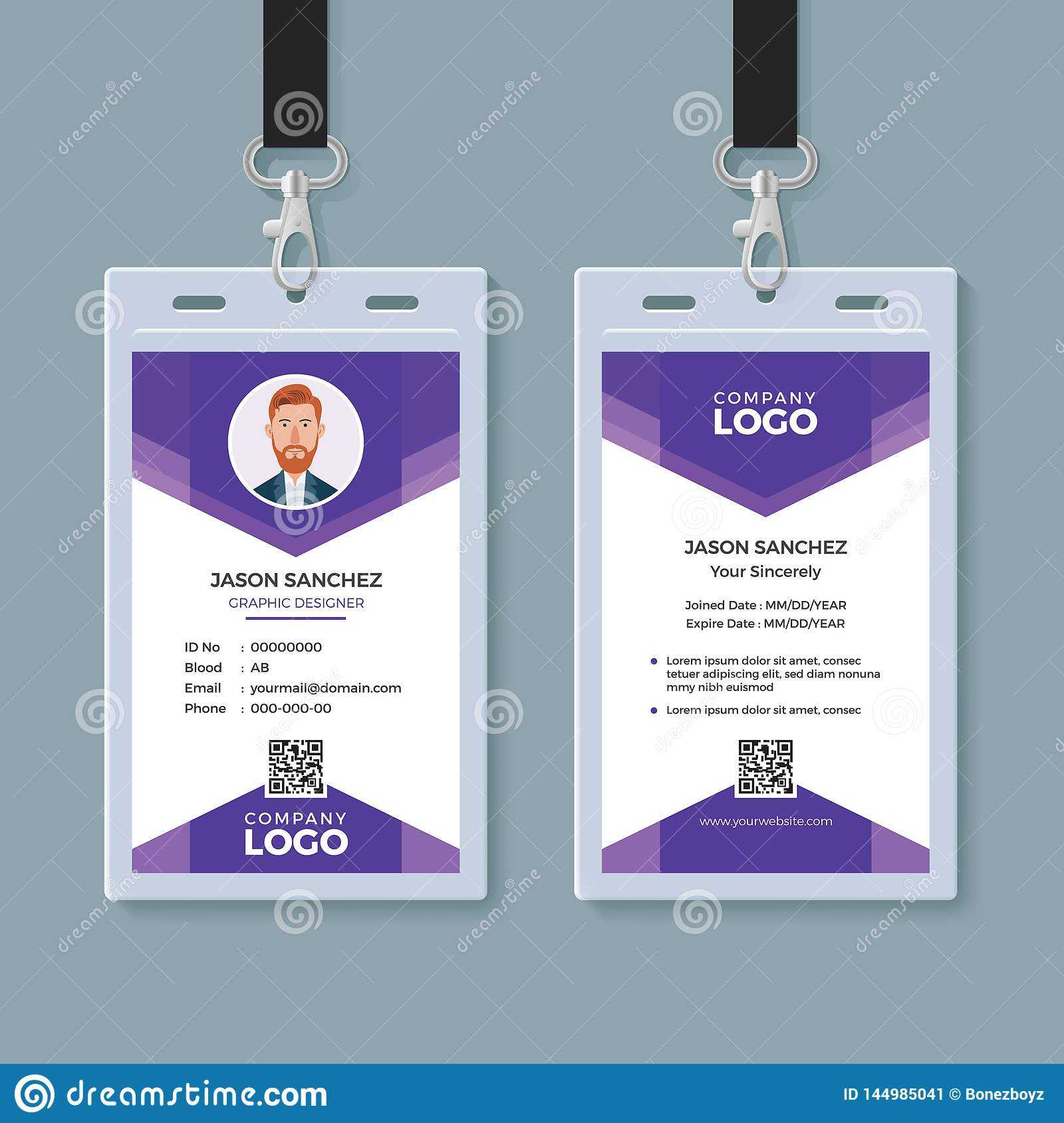 Creative Id Card Template Stock Vector. Illustration Of With Conference Id Card Template