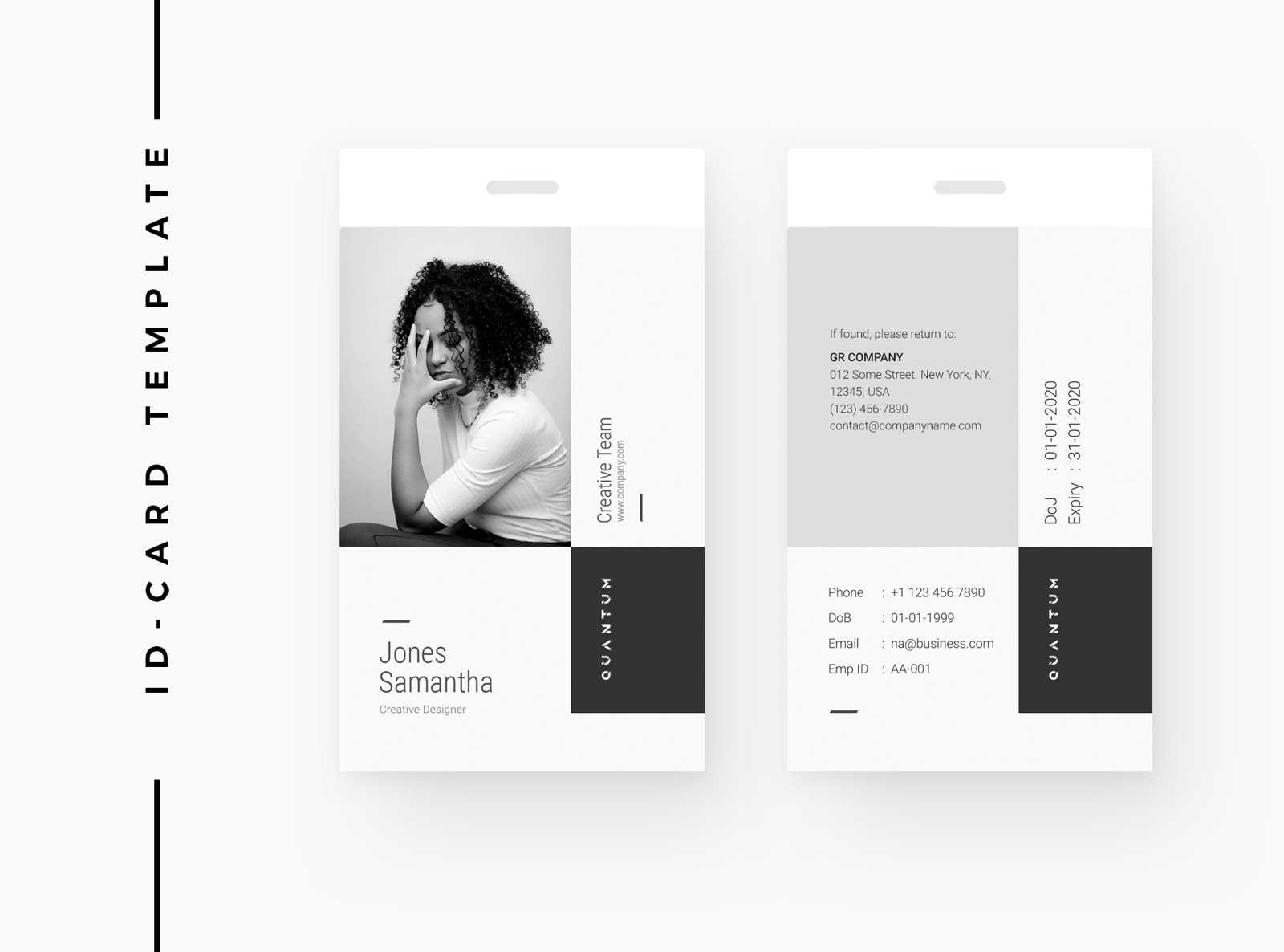 Creative Id Cardomega Labs On Dribbble For Photographer Id Card Template