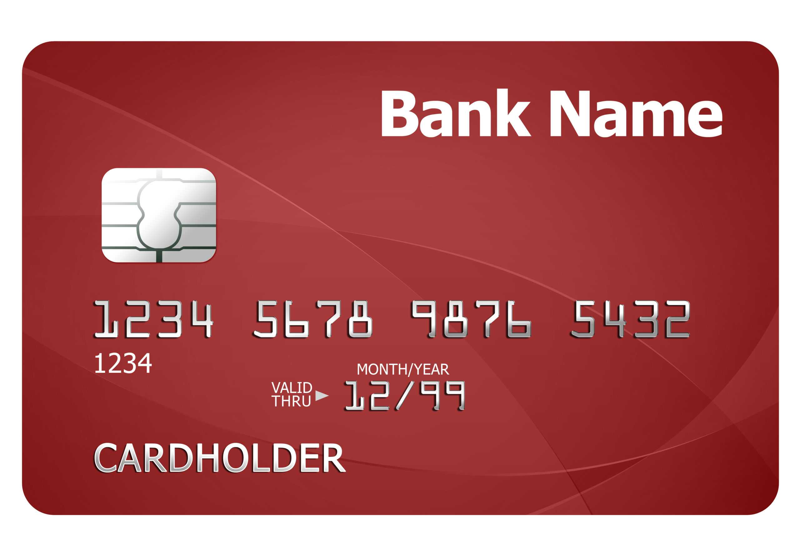 Credit Card Template | Psdgraphics With Credit Card Template For Kids