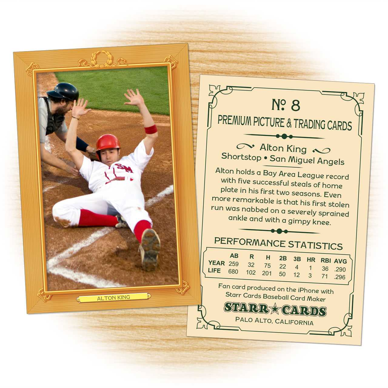 Custom Baseball Cards - Vintage 11™ Series Starr Cards Pertaining To Custom Baseball Cards Template