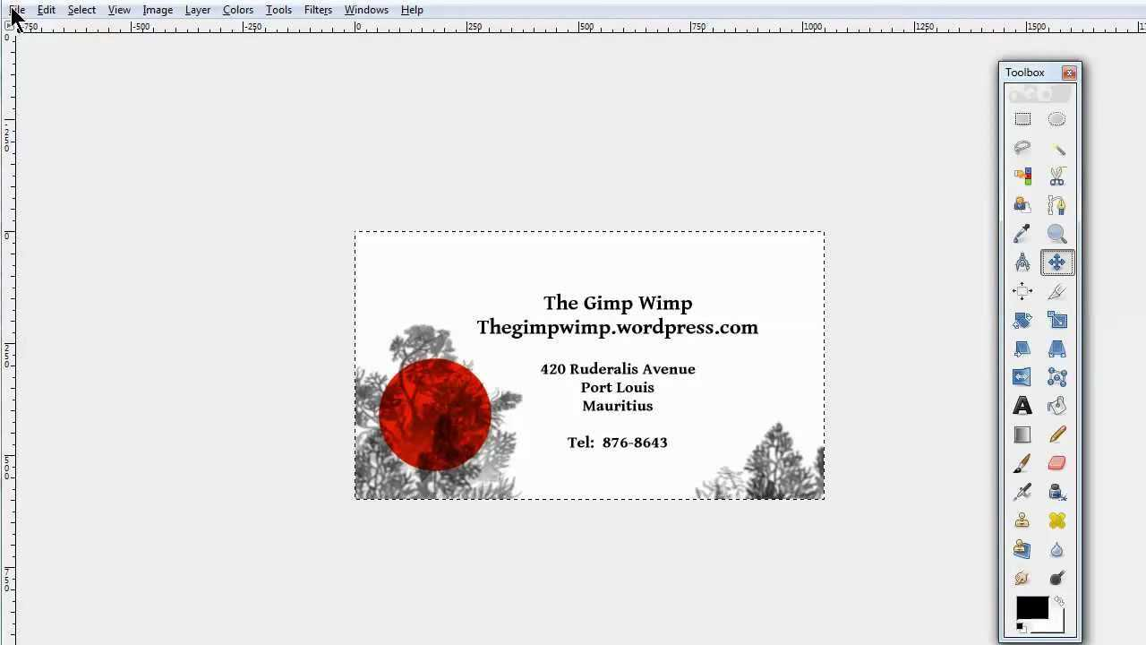 Custom Business Card In Gimp 2.8The Gimpwimp Regarding Gimp Business Card Template