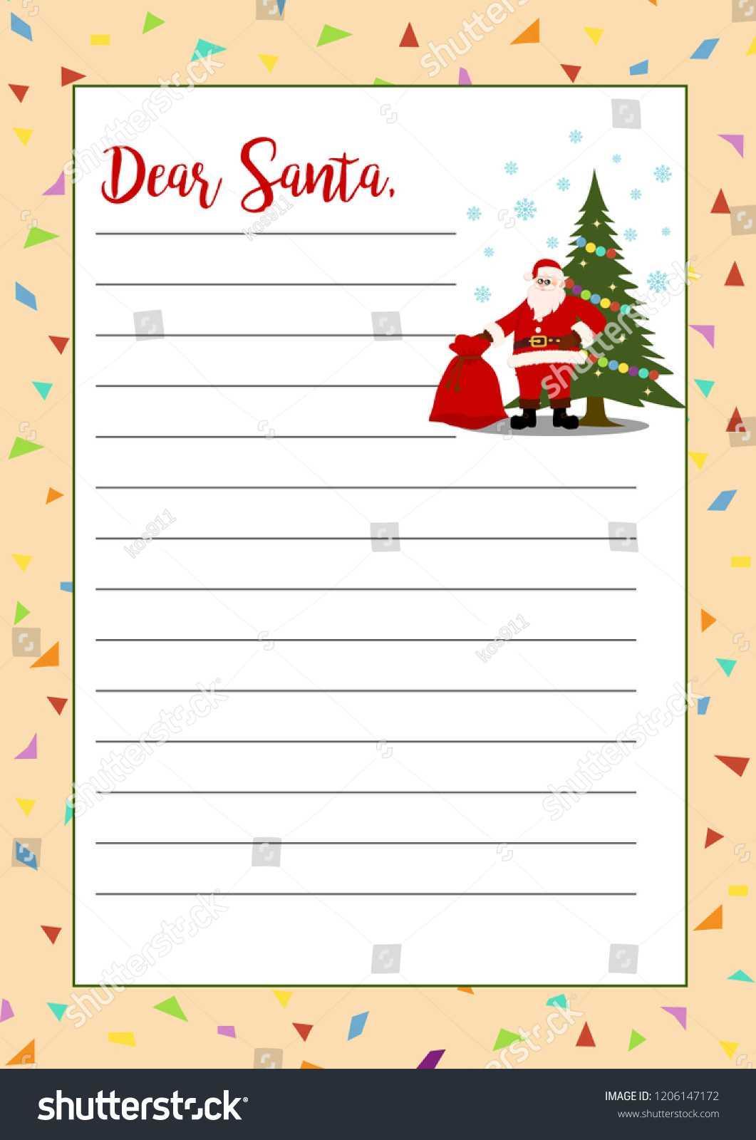 Стоковая Векторная Графика «Christmas Letter Santa Claus In Christmas Note Card Templates