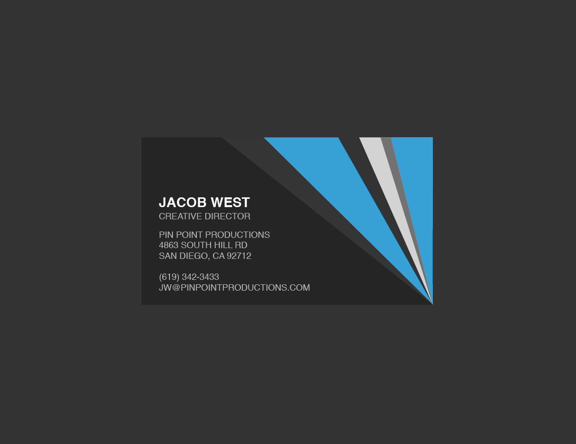 Dark Gray And Blue Generic Business Card Template Intended For Generic Business Card Template