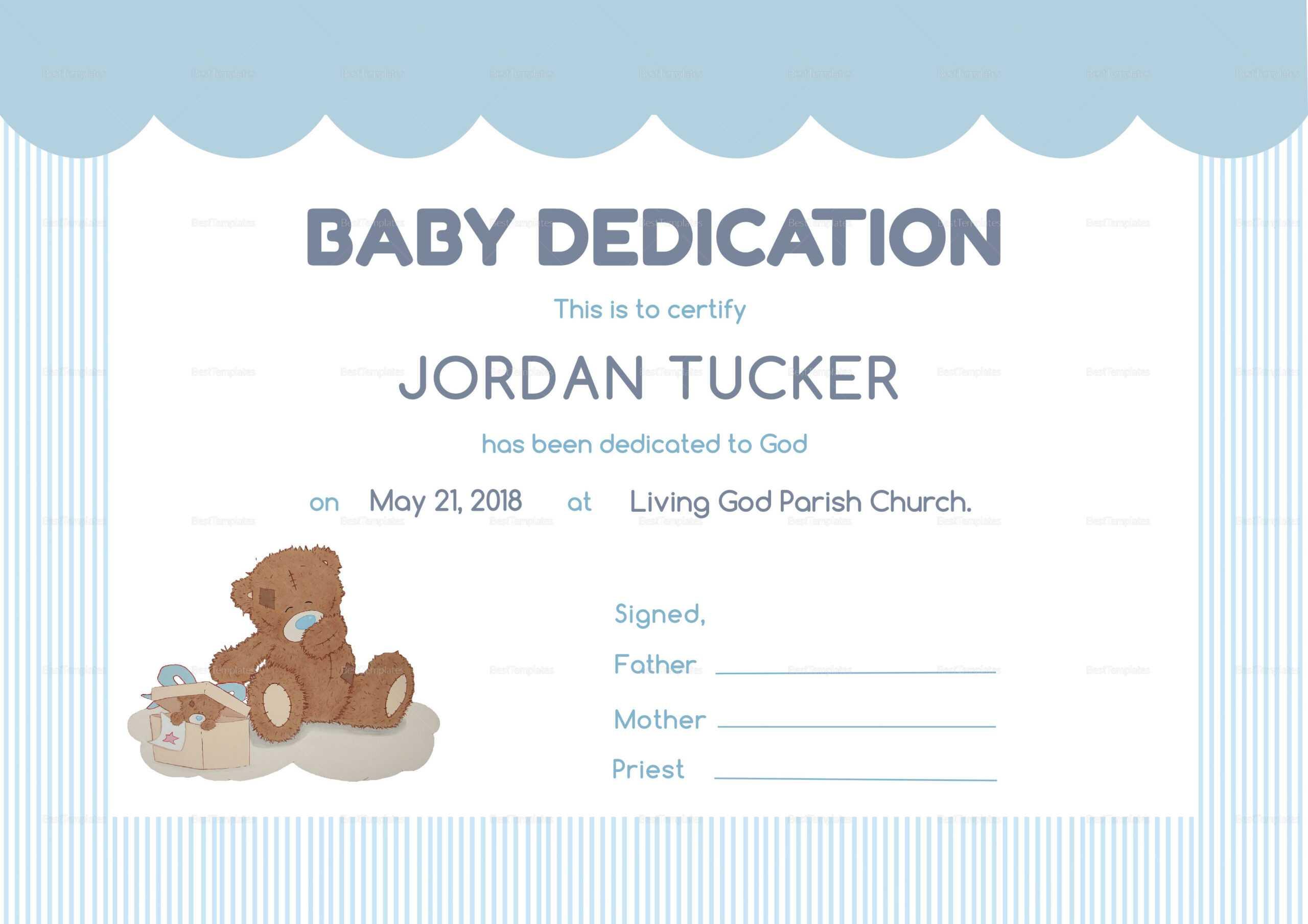 Dedication Certificates - Karan.ald2014 Regarding Baby Dedication Certificate Template