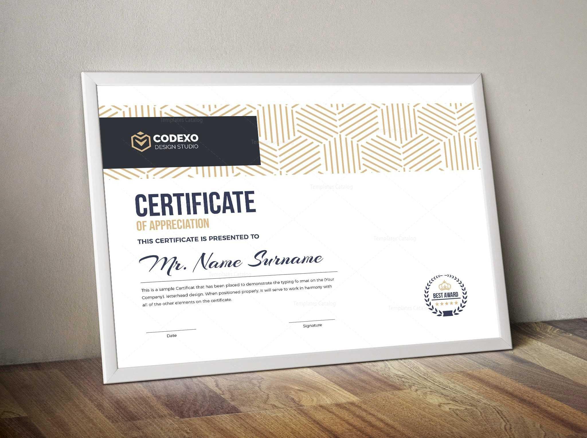 Demeter Professional Landscape Certificate Template 000844 Within Landscape Certificate Templates