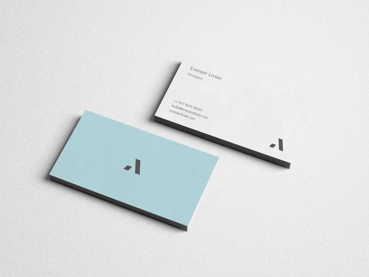 Digital Designer Business Card Template – Uxfree With Regard To Business Card Maker Template