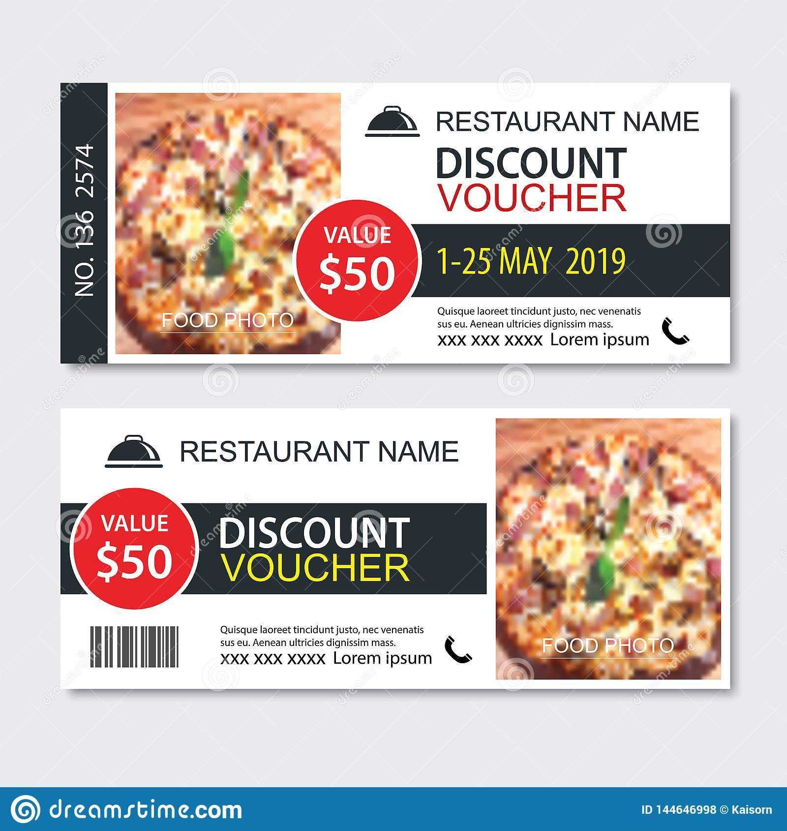 Discount Gift Voucher Fast Food Template Design. Pizza Set Pertaining To Pizza Gift Certificate Template