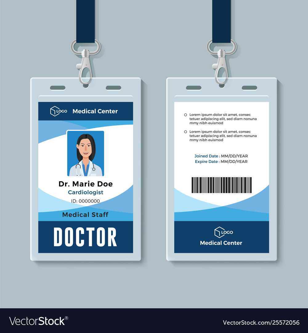 Doctor Id Badge Medical Identity Card Design In Hospital Id Card Template