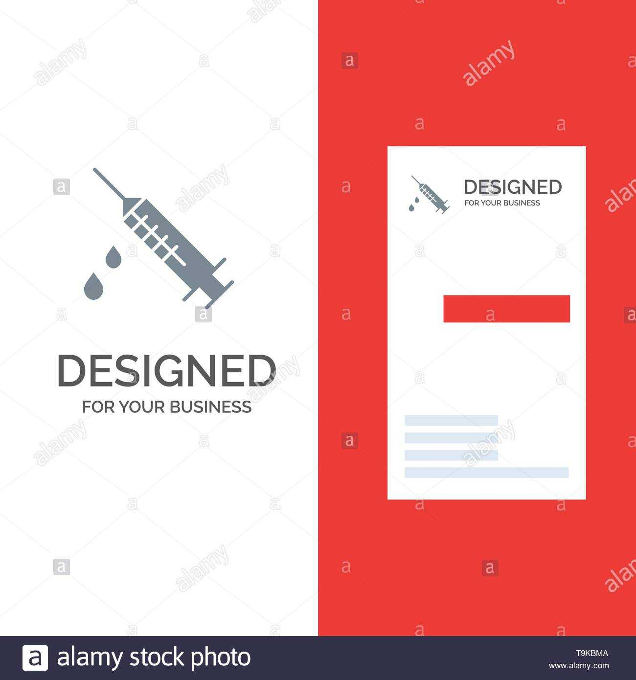 Dope, Injection, Medical, Drug Grey Logo Design And Business For Dope Card Template