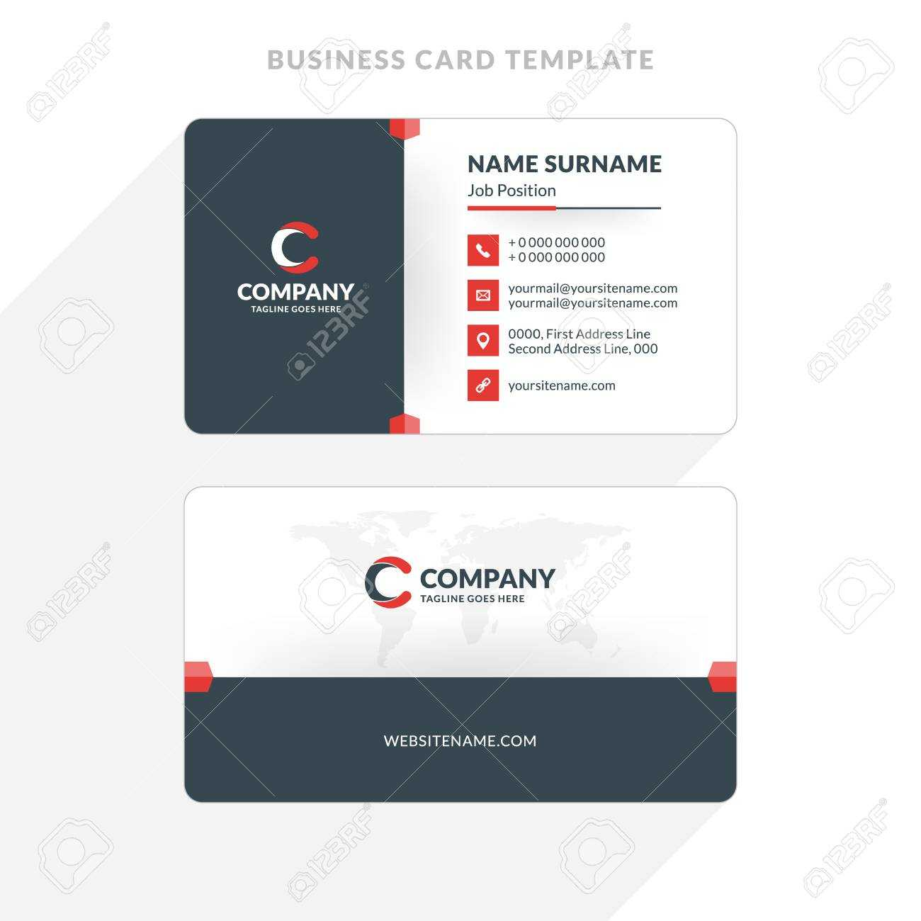 Double Sided Cards | Best Free Themes, Templates And Graphic Inside 2 Sided Business Card Template Word
