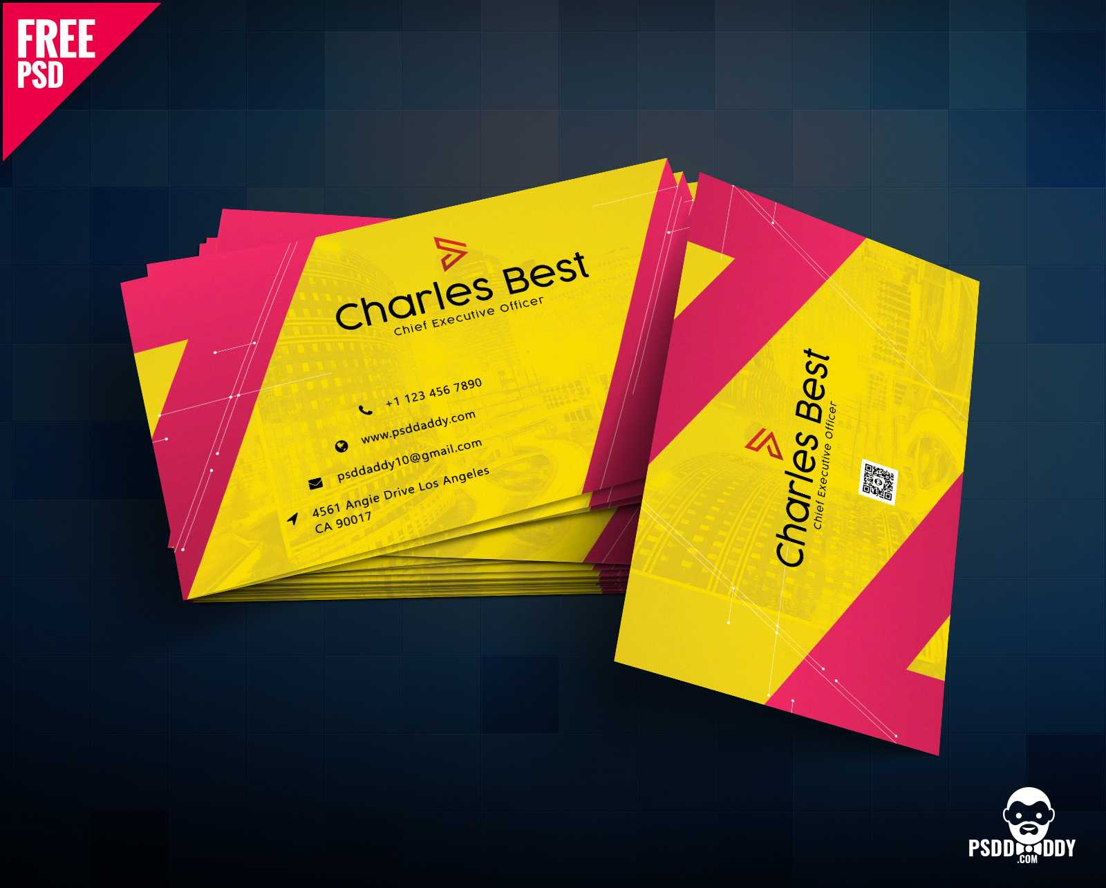 Download] Creative Business Card Free Psd | Psddaddy Within Business Card Maker Template