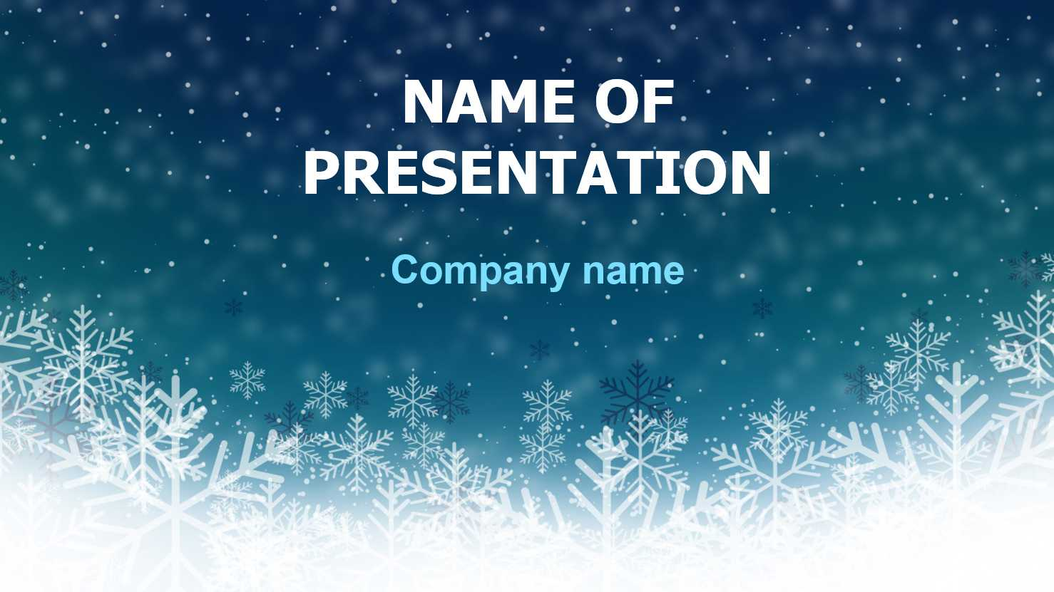Download Free Deep Snow Powerpoint Template And Theme For With Snow Powerpoint Template