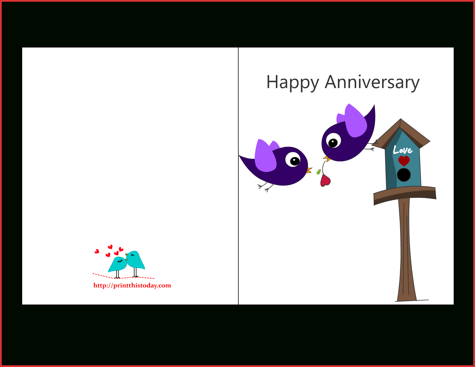 Download Happy Wedding Anniversary Card Template Fresh Pertaining To Template For Anniversary Card