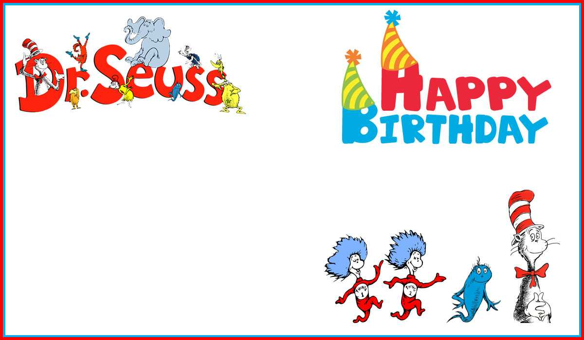 Dr Seuss Free Printable Invitation Templates   Invitations In Dr Seuss Birthday Card Template