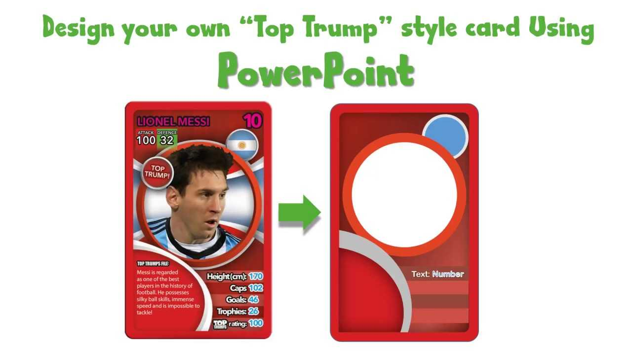 Draw A Top Trump Card Using Powerpoint - Youtube Regarding Top Trump Card Template