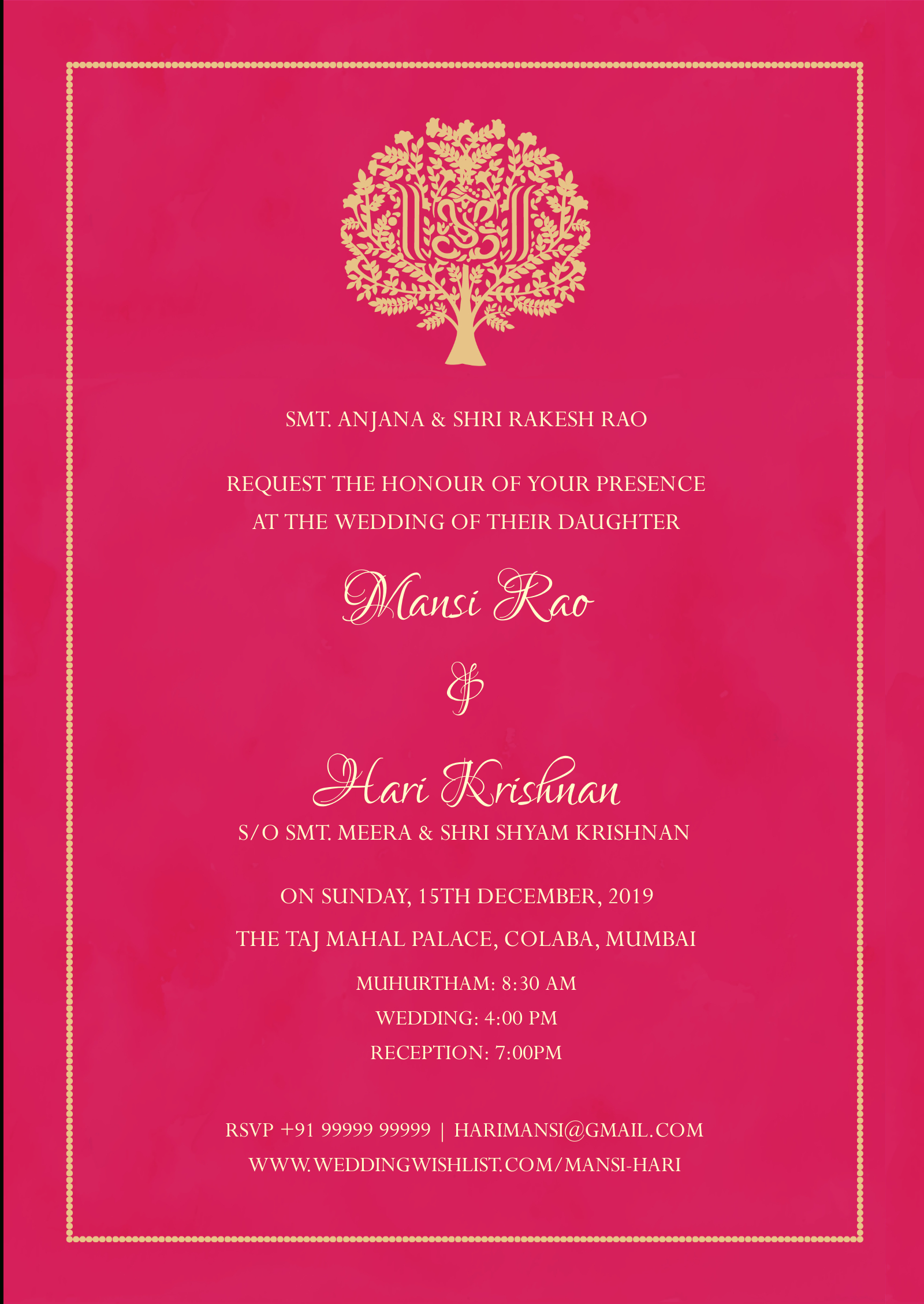 E Invite Rooted In Pink For Engagement Invitation Card Template