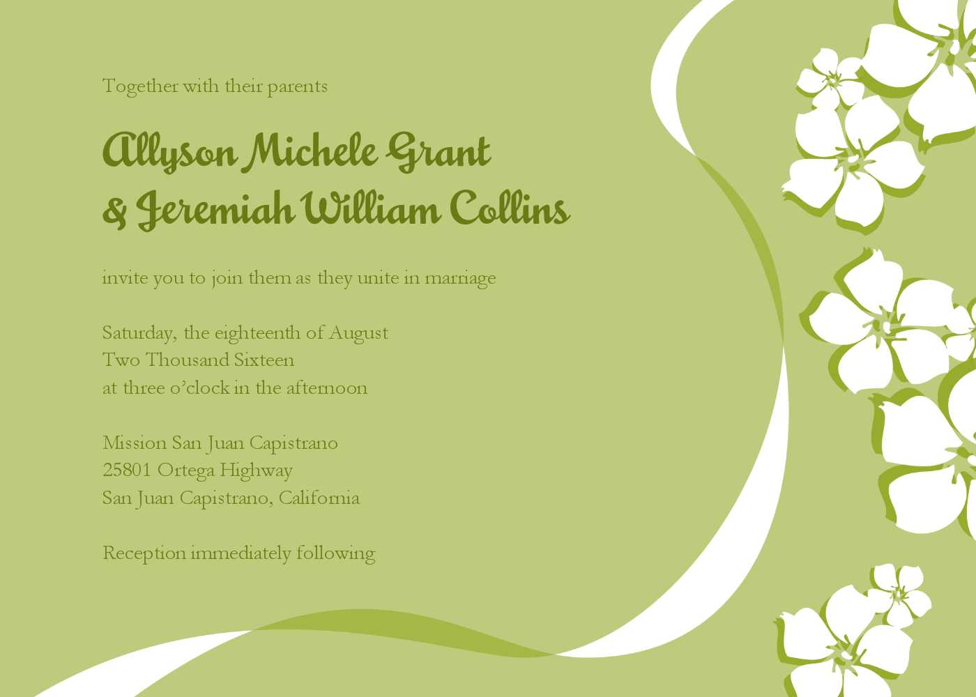E Wedding Card Templates Free - Cards Design Templates Regarding Free E Wedding Invitation Card Templates
