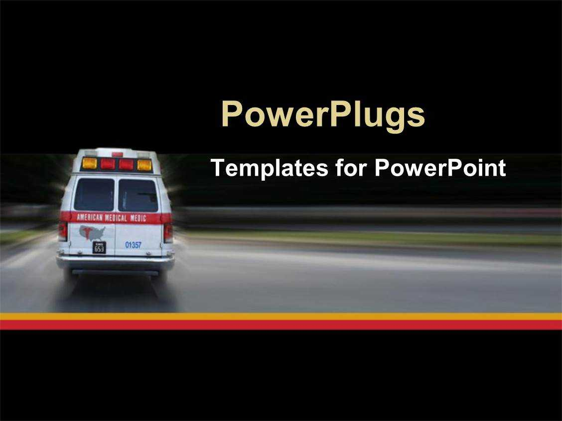 √ Powerpoint Template: Ambulance Going To Hospital For Inside Ambulance Powerpoint Template