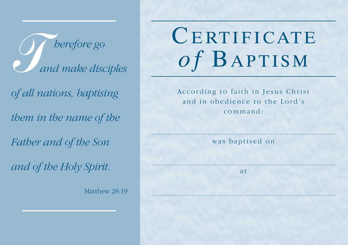 ❤️free Sample Certificate Of Baptism Form Template❤️ Pertaining To Christian Baptism Certificate Template