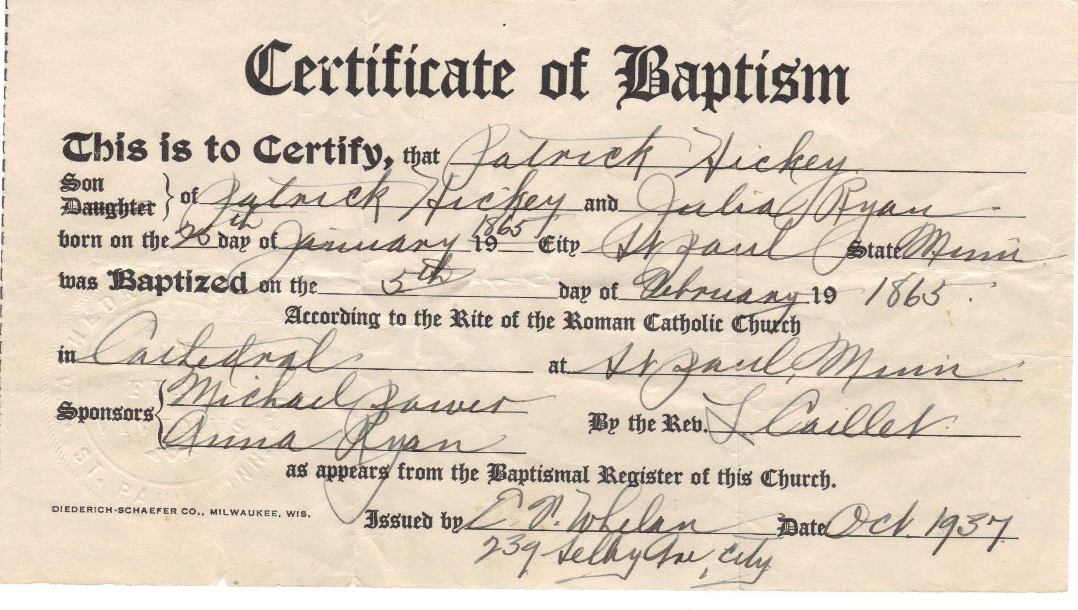 ❤️free Sample Certificate Of Baptism Form Template❤️ With Regard To Roman Catholic Baptism Certificate Template