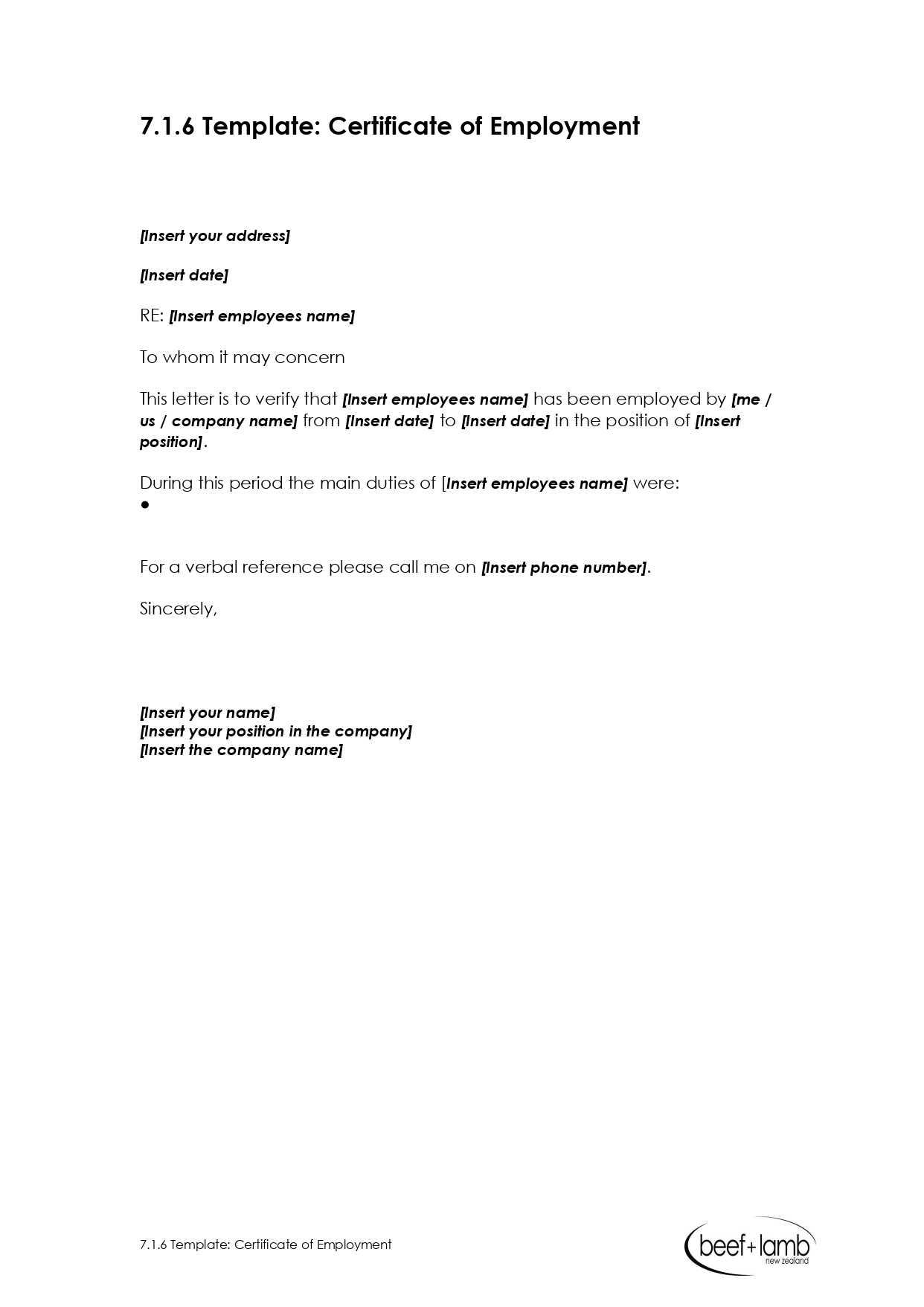 Editable Certificate Of Employment Template - Google Docs Regarding Employee Certificate Of Service Template