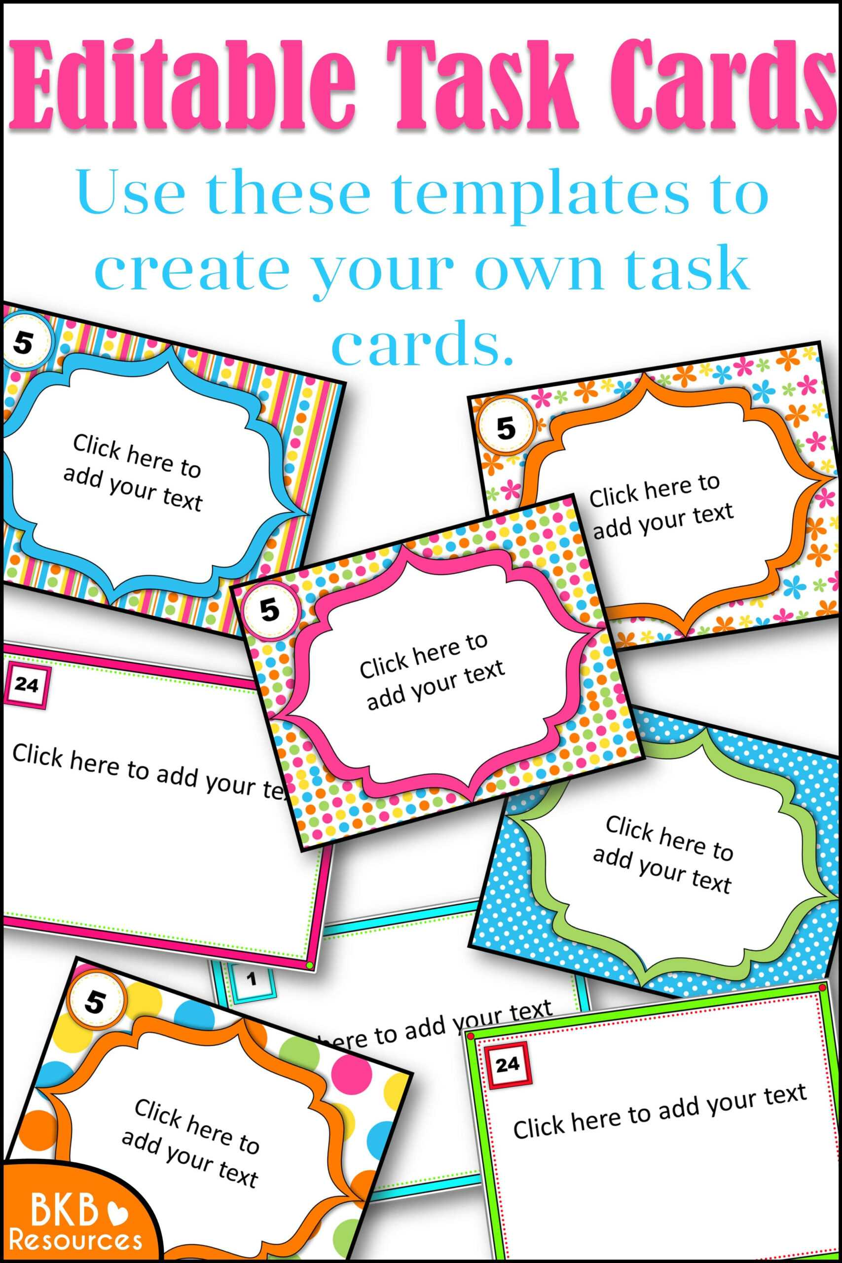 Editable Task Card Templates – Bkb Resources Pertaining To Task Cards Template