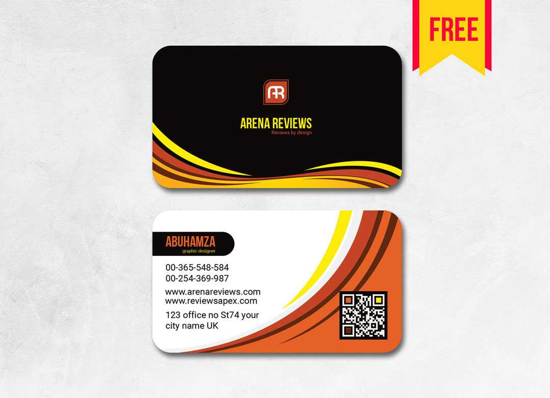 Elegant Business Card Template Free | Free Download Throughout Visiting Card Templates Download
