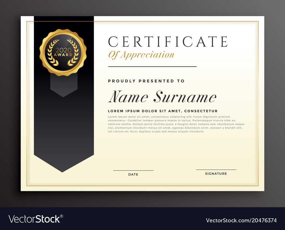 Elegant Diploma Award Certificate Template Design Inside Design A Certificate Template