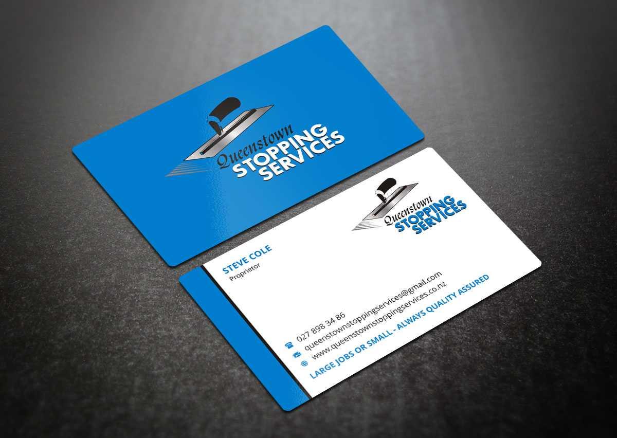 Elegant, Playful, Business Business Card Design For A Inside Plastering Business Cards Templates