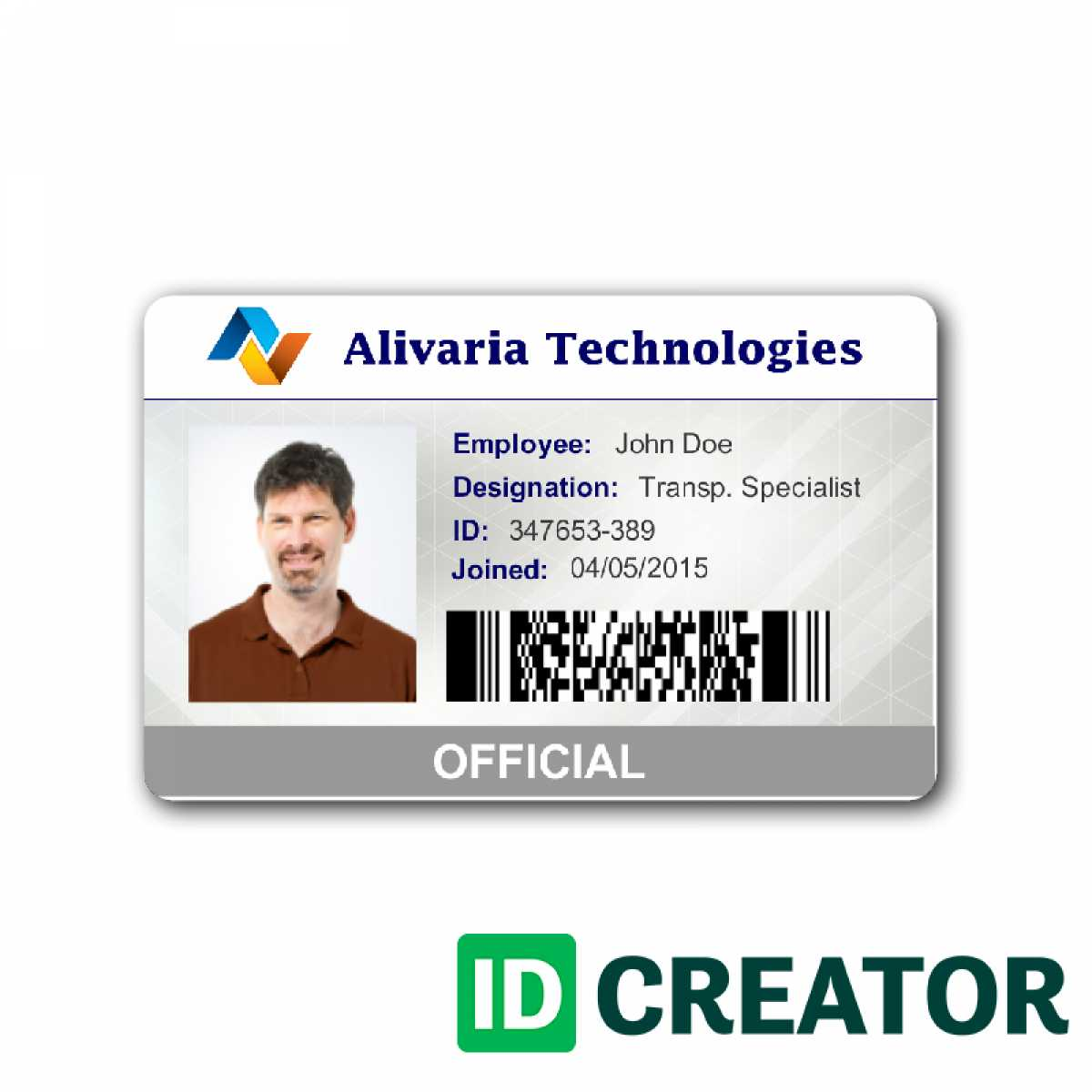 Employee Id Card Template Microsoft Word Free Download With Employee Card Template Word